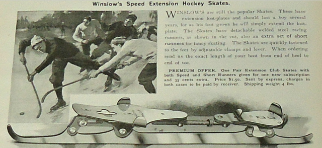 Winslow's Speed Extension Hockey Skates 1899