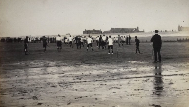 Rossall Hockey on the Fylde coast, Lancashire, England 1905