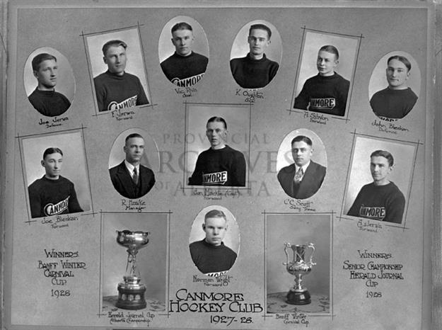 Canmore Hockey Club Alberta Senior Hockey Champions 1928