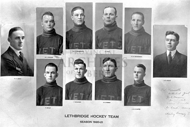 Lethbridge Veterans Hockey Team 1921