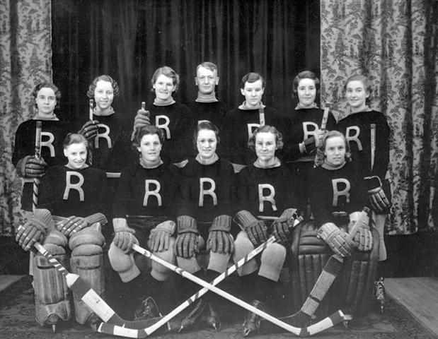 Jasper Place Rustlers 1st Canadian Ladies Hockey Champions 1933