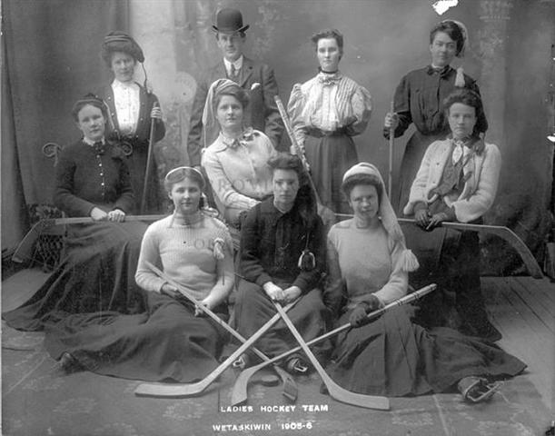Wetaskiwin Ladies Hockey Team 1906