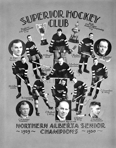 Edmonton Superiors Northern Alberta Senior Hockey Champions 1930