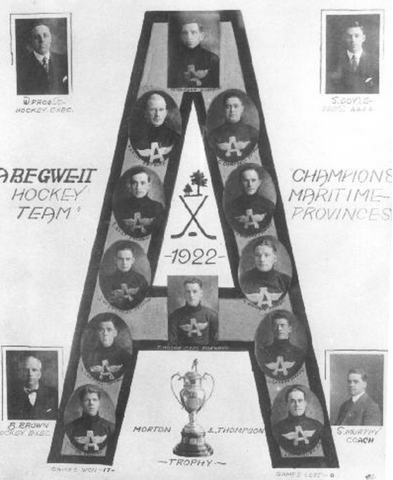 Abegweit Hockey Club Maritme Provinces Champions 1922