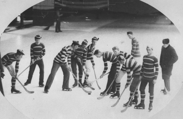 McGill University Hockey Team 1881 at Crystal Palace, Montreal
