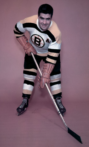 Fleming Mackell Boston Bruins 1955