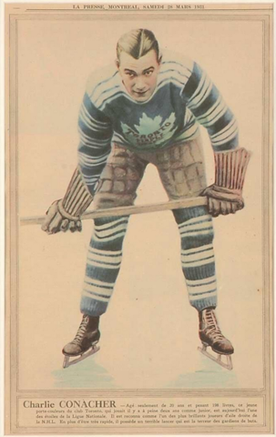 Charlie Conacher - La Presse Hockey Photo March 28, 1931