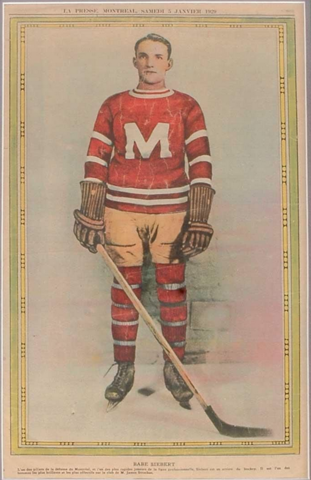 Babe Siebert - La Presse Hockey Photo January 5, 1929