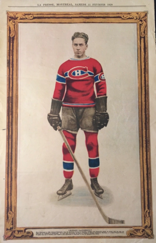 Leonard Gaudreault La Presse Hockey Photo February 11, 1928