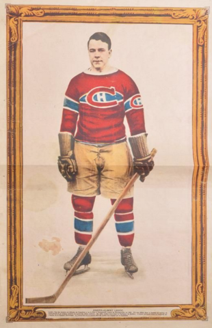 Joseph Albert Leduc La Presse Hockey Photo January 28, 1928