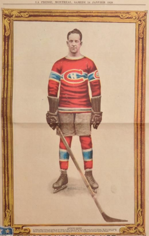 Arthur Gagné La Presse Hockey Photo January 14, 1928