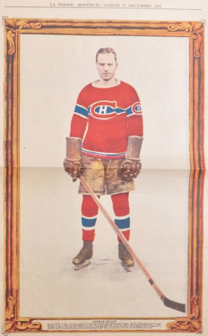 Aurèle Joliat La Presse Hockey Photo December 17, 1927