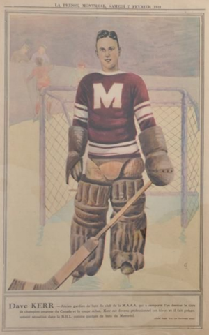 Dave Kerr La Presse Hockey Photo February 7, 1932