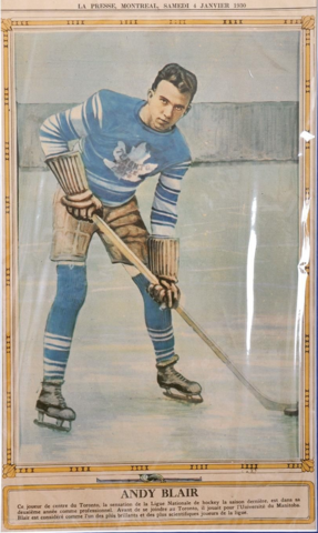 Andy Blair La Presse Hockey Photo January 4, 1930
