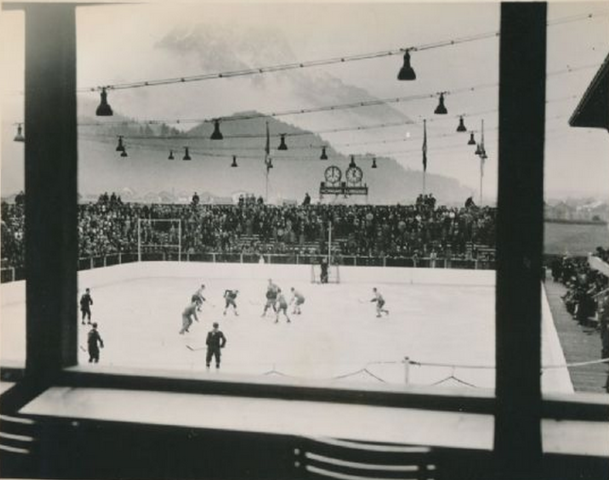 The Kunsteisstadion in Garmisch, Germany at 1936 Winter Olympics