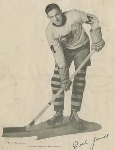 Dud James Moncton Hawks Allan Cup Champion 1933 and 1934