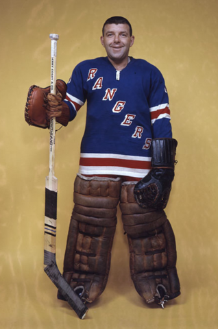 Gump Worsley New York Rangers 1962