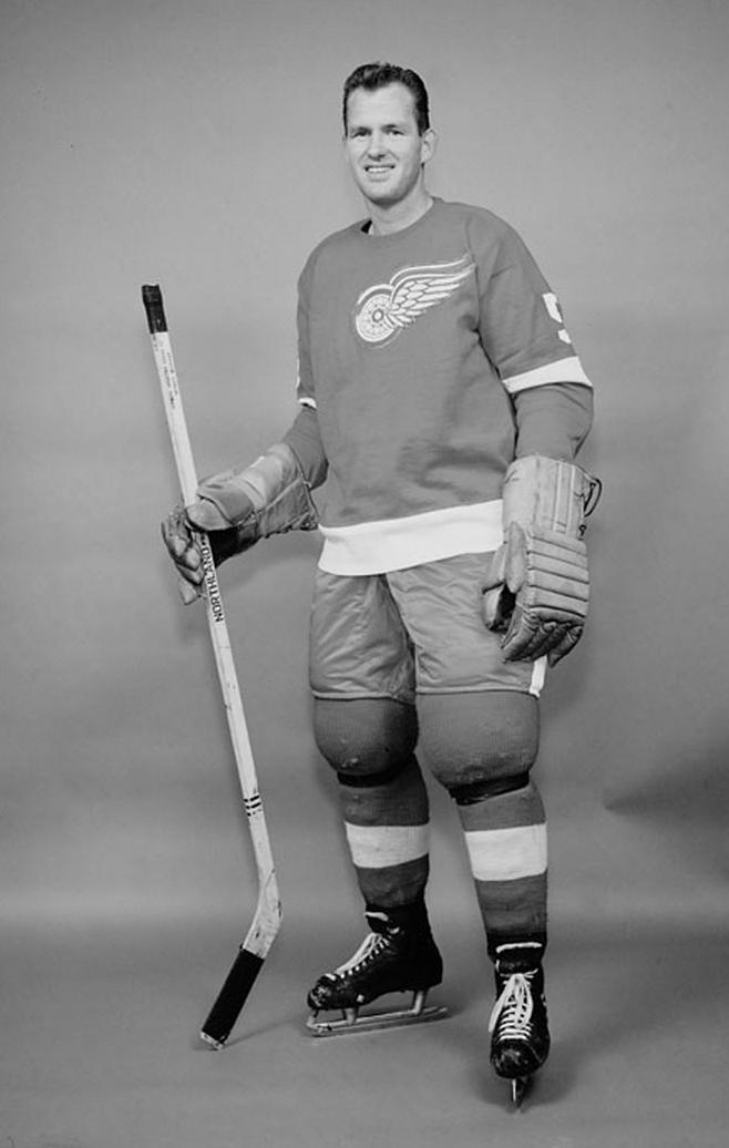 Warren Godfrey Detroit Red Wings 1961 Hockeygods