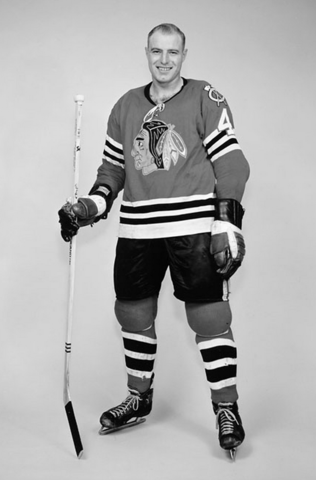 Elmer Vasko Chicago Black Hawks 1961