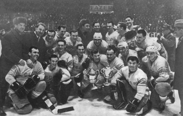 1965 World Ice Hockey Champions Soviet Union / USSR / CCCP