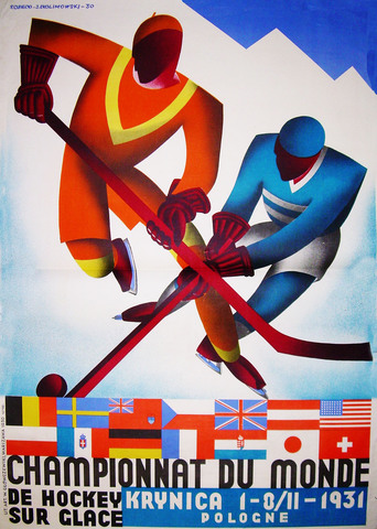 1931 World Ice Hockey Championships Poster