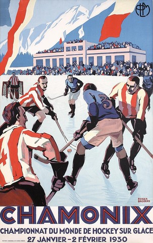 1930 World Ice Hockey Championships Poster