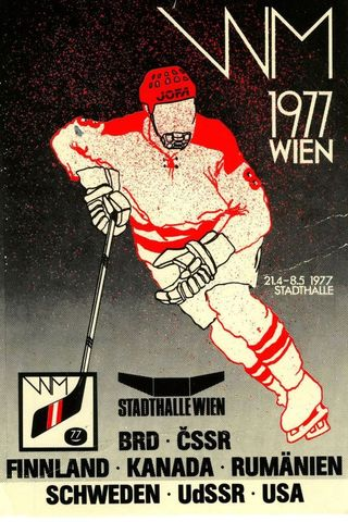 1977 World Ice Hockey Championships Poster
