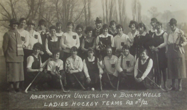 Aberystwyth University Hockey vs Builth Wells Hockey Team 1922