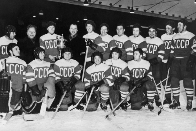 Soviet Union National Team World Ice Hockey Champions 1954