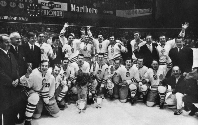 Czechoslovakia Hockey Team World Ice Hockey Champions 1972
