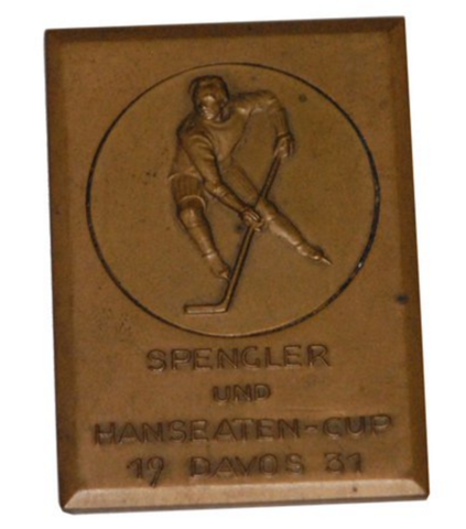 Spengler Cup Medal 1931 - Oxford University Ice Hockey Club