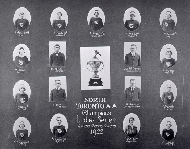 North Toronto Athletic Association J.D. Bailey Cup Champs 1922
