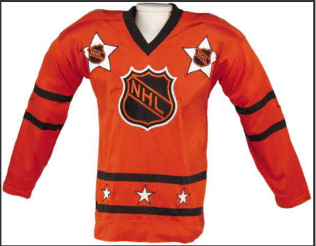 Bernie Parent Game Worn All-Star Jersey 1975