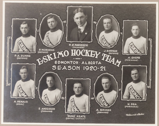 Eskimo Hockey Team / Edmonton Eskimos 1920-21 Big-4 League