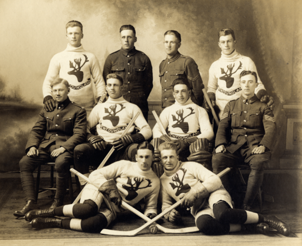 Newfoundland Regiment Hockey Team 1917