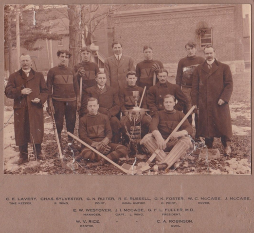 The Victorias District of Bedford Hockey League Champions 1910