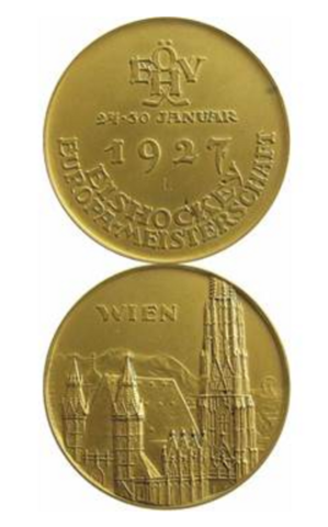 Eishockey Europameisterschaft 1927 European Ice Hockey Championships Gold Medal