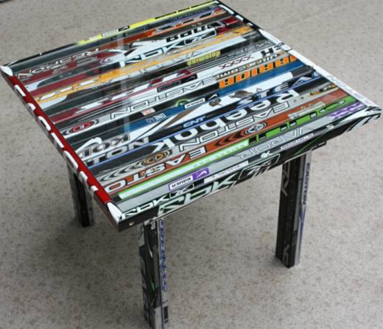 Hockey Stick Table - Hockey Stick End Table