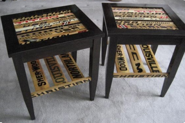 Hockey Stick Side Tables
