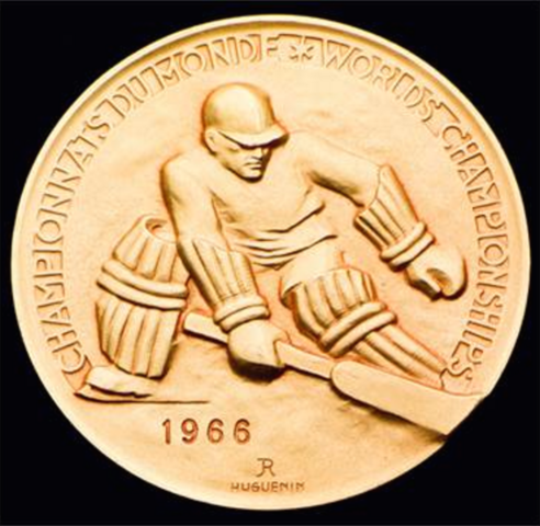 1966 World Ice Hockey Championships Gold Medal