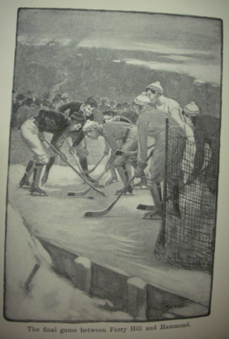 The Crimson Sweater - Ice Hockey Illustration by C. M. Relyea 1906