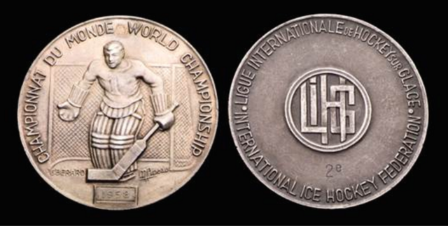 1958 World Ice Hockey Championships Silver Medal