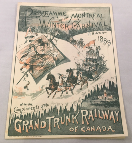 Montreal Winter Carnival 1889 Program Cover - Lord Stanley's 1st Hockey Game