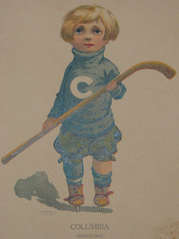 Columbia Hockeying Postcard 1907 - Columbia University Hockey History