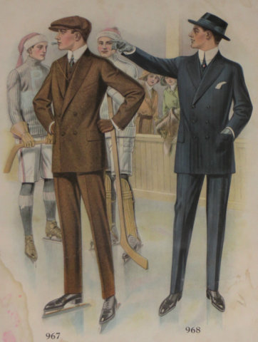 Hockey Fashion from Tailor's Trade Catalog 1914