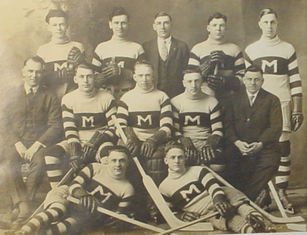 Atlantics Hockey Team Champions of the Southern New Brunswick League 1925