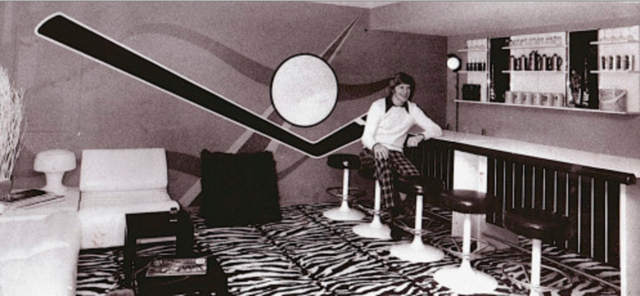 Keith Magnuson in his Mod Living Room 1970s