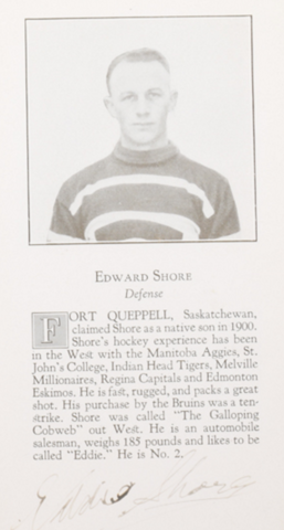 Eddie Shore Boston Bruins 1926