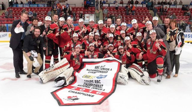 West Kelowna Warriors Junior 'A' Hockey Club 2016 RBC Cup Champions