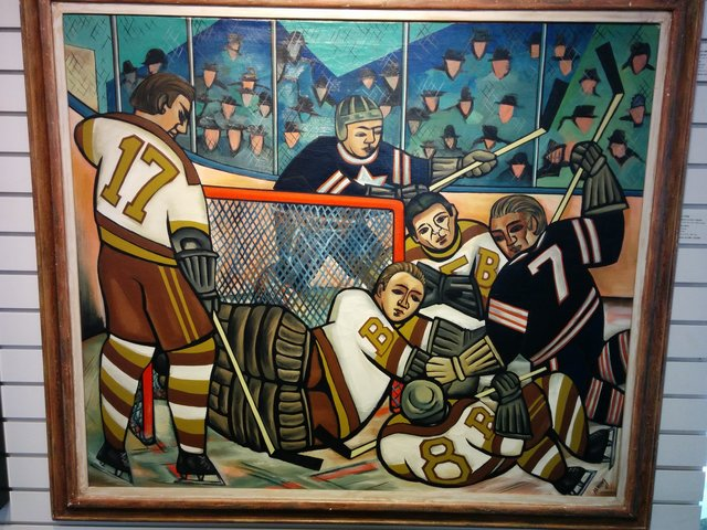 Hockey Melee by Ernest Caven Atkins 1941